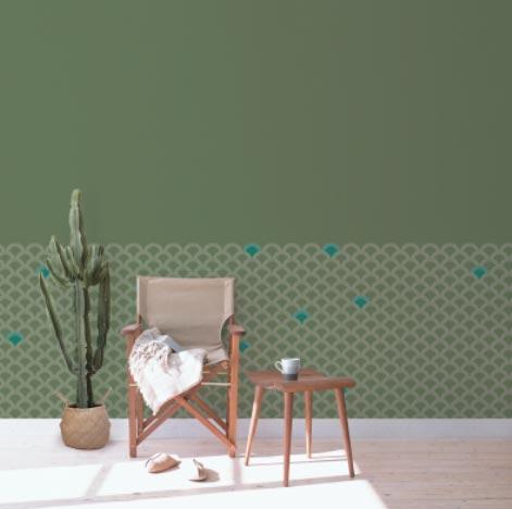 décoration tendance verte