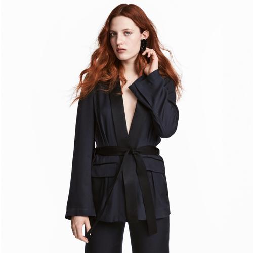 H&M Blazer soie mélangée