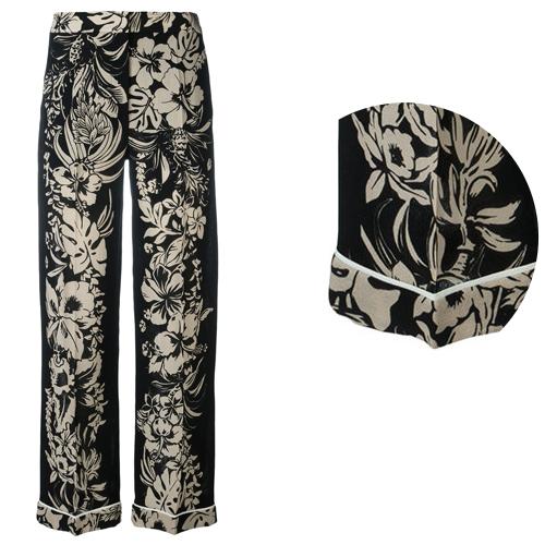 Pantalon soie Valentino