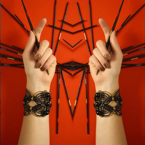 Bracelet black gold Claire Colin