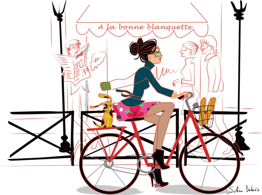 illustration paris velo Solene Debies