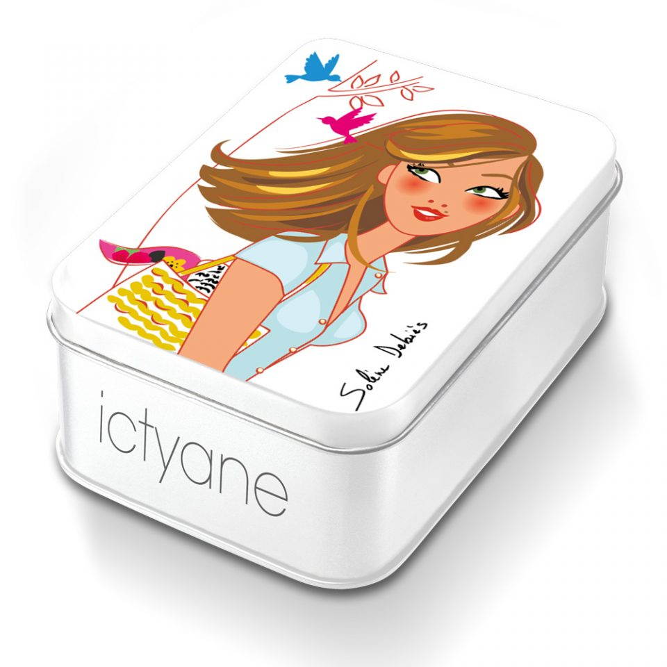 illustration pour packaging Ictyane Solene Debies